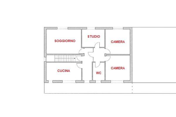 Immagine n3 - Planimetria - Piano secondo - Asta 8911