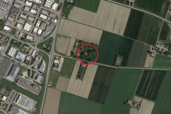 Immagine n0 - Planimetria - Vista aerea - Asta 8917