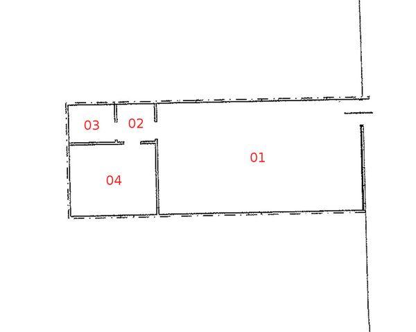 Immagine n4 - Planimetria - Piano seminterrato - Asta 893