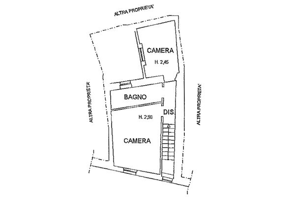 Immagine n0 - Planimetria - Piano secondo - Asta 8951