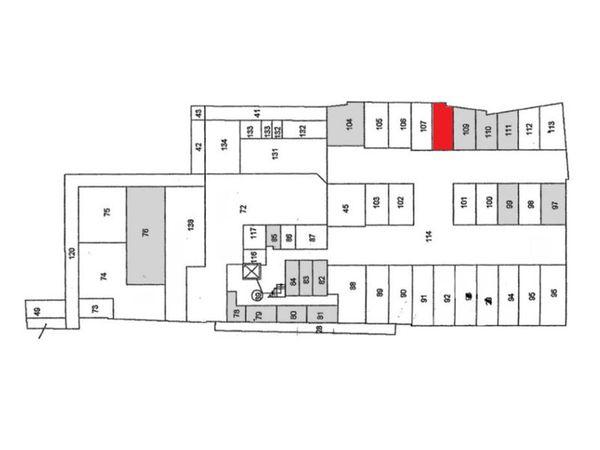 Immagine n1 - Planimetria - Piano seminterrato - Asta 896