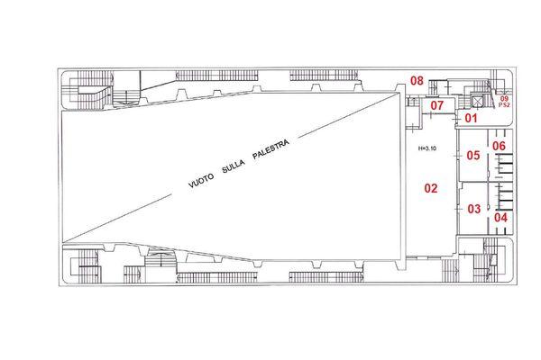 Immagine n1 - Planimetria - Piano primo interrato - Asta 8961
