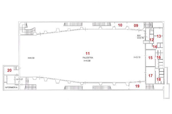 Immagine n1 - Planimetria - Piano secondo interrato - Asta 8961
