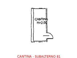 Cantina in seminterrato (sub 81)