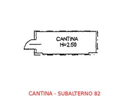 Cantina in seminterrato (sub 82) - Lotto 899 (Asta 899)