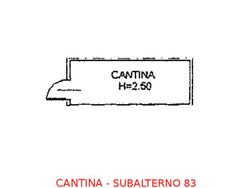 Cantina in seminterrato (sub 83) - Lotto 900 (Asta 900)