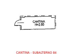 Cantina in seminterrato (sub 84)