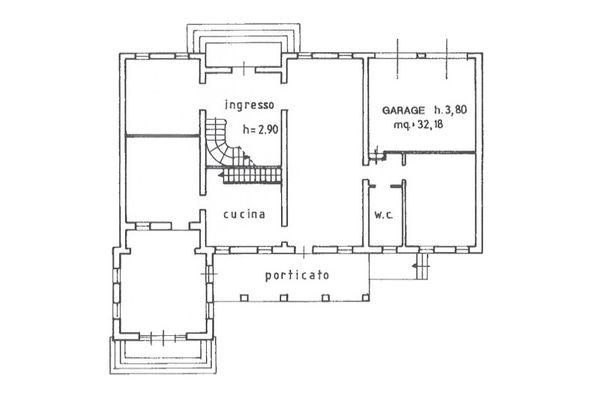 Immagine n1 - Planimetria - Piano terra - Asta 9018