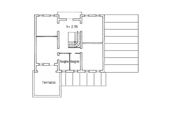 Immagine n2 - Planimetria - Piano primo - Asta 9018