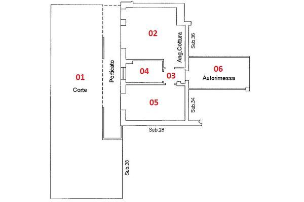 Immagine n1 - Planimetria - Piano terra - Asta 9173