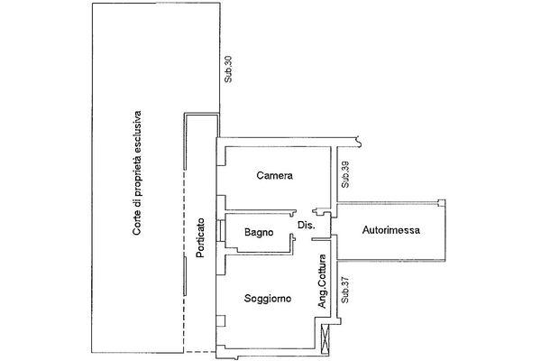 Immagine n1 - Planimetria - Piano terra - Asta 9174