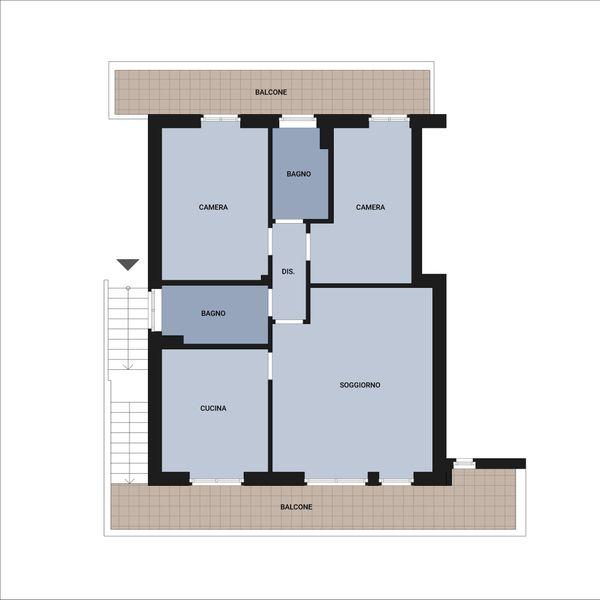 Immagine n2 - Planimetria - Piano primo - Asta 9175