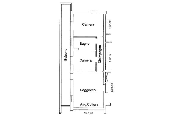Immagine n2 - Planimetria - Piano primo - Asta 9176