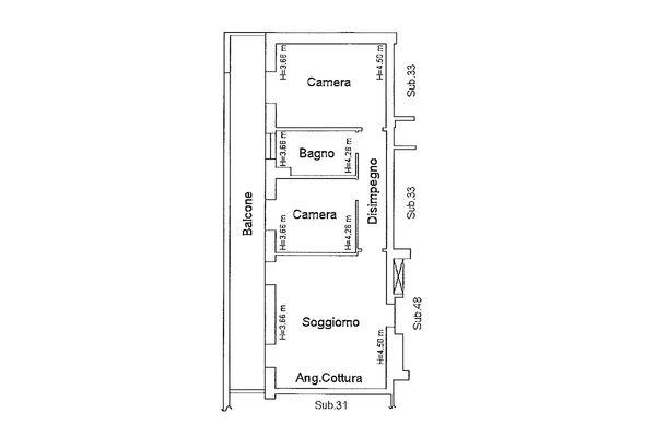 Immagine n2 - Planimetria - Piano secondo - Asta 9179