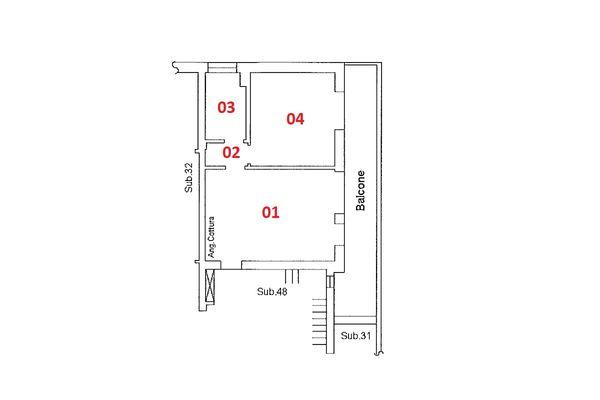 Immagine n1 - Planimetria - Piano secondo - Asta 9180