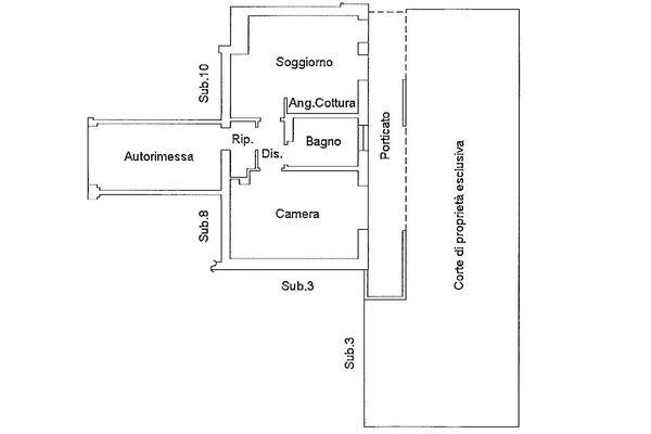 Immagine n3 - Planimetria - Piano terra - Asta 9189