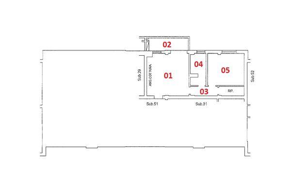Immagine n2 - Planimetria - Piano primo - Asta 9198