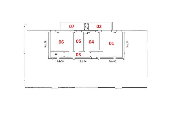 Immagine n2 - Planimetria - Piano terzo - Asta 9204