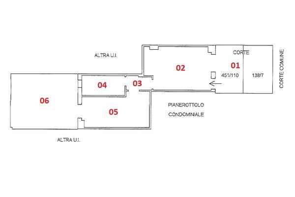 Immagine n1 - Planimetria - Piano terra - Asta 9219