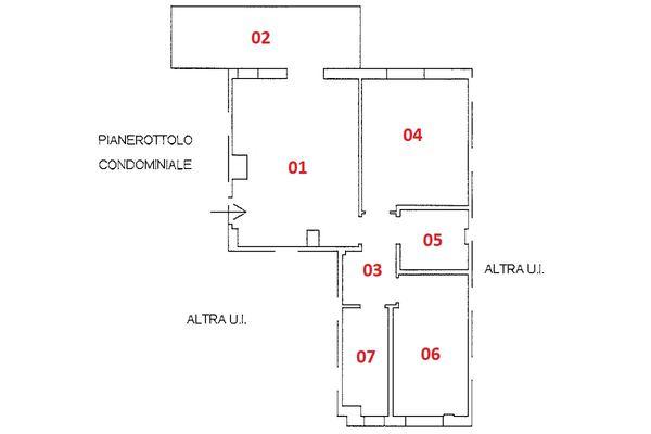 Immagine n1 - Planimetria - Piano primo - Asta 9221