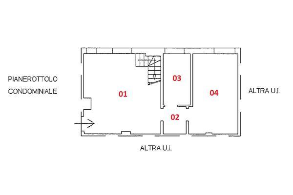 Immagine n2 - Planimetria - Piano terzo - Asta 9227