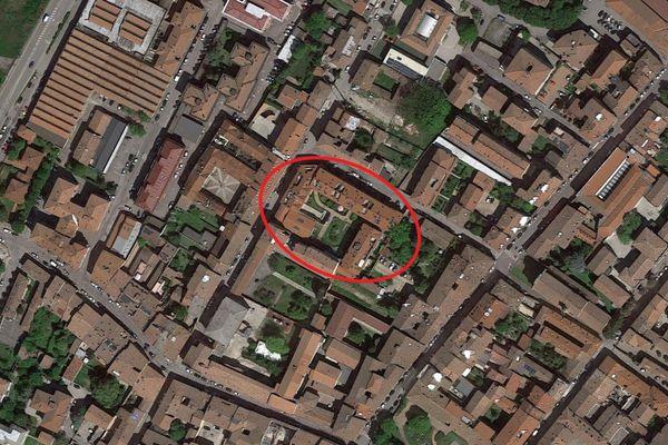 Immagine n1 - Planimetria - Vista aerea - Asta 9228