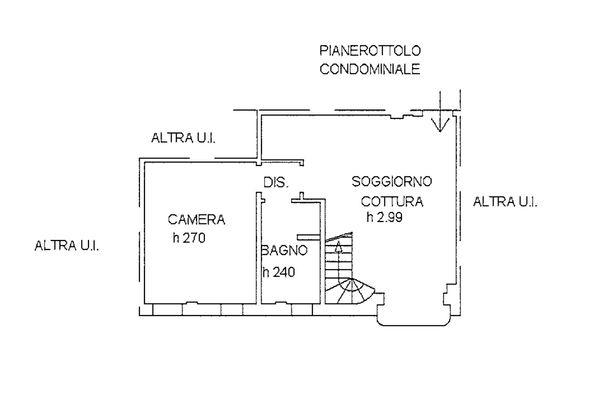 Immagine n1 - Planimetria - Piano terzo - Asta 9228