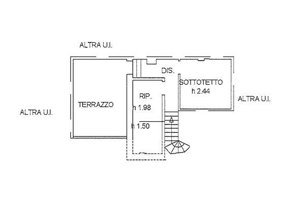 Immagine n1 - Planimetria - Piano quarto - Asta 9228