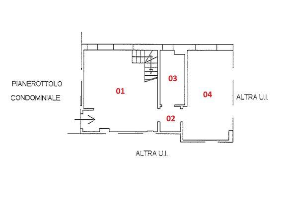 Immagine n2 - Planimetria - Piano terzo - Asta 9230
