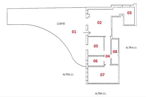 Immagine n2 - Planimetria - Piano terra - Asta 9232