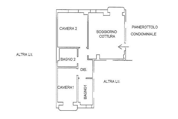 Immagine n1 - Planimetria - Piano primo - Asta 9233