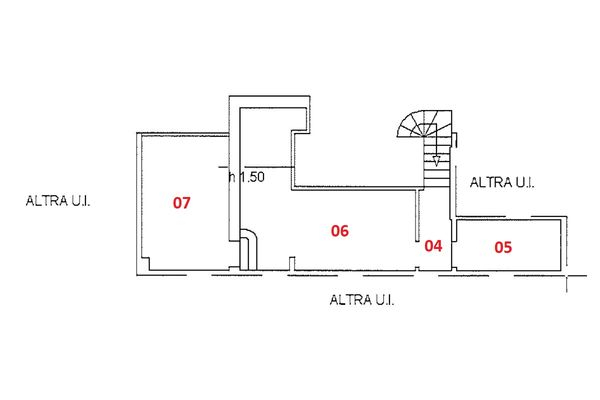 Immagine n1 - Planimetria - Piano quarto - Asta 9235