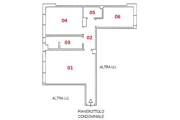 Immagine n1 - Planimetria - Piano primo - Asta 9237