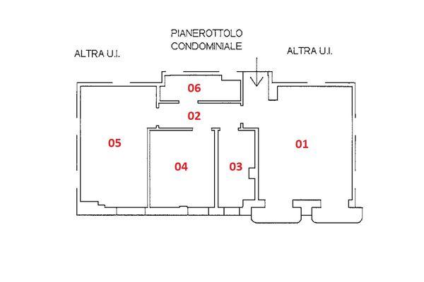 Immagine n1 - Planimetria - Piano primo - Asta 9238