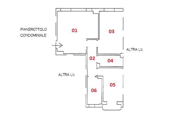 Immagine n1 - Planimetria - Piano primo - Asta 9240