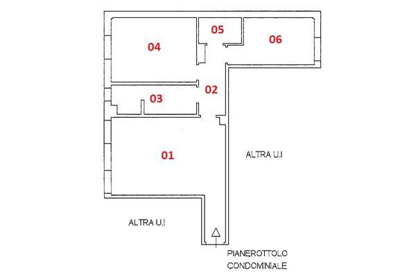 Immagine n1 - Planimetria - Piano secondo - Asta 9241