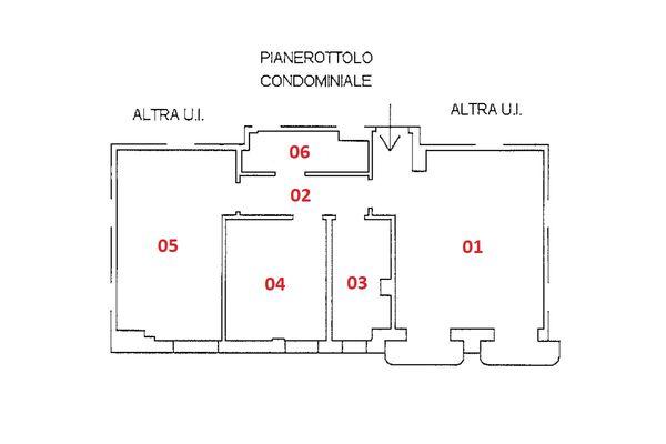 Immagine n1 - Planimetria - Piano secondo - Asta 9243