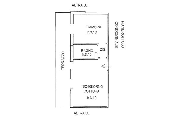 Immagine n1 - Planimetria - Piano terzo - Asta 9244