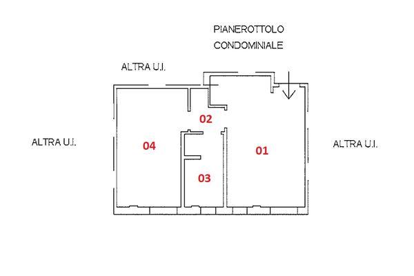 Immagine n1 - Planimetria - Piano secondo - Asta 9250