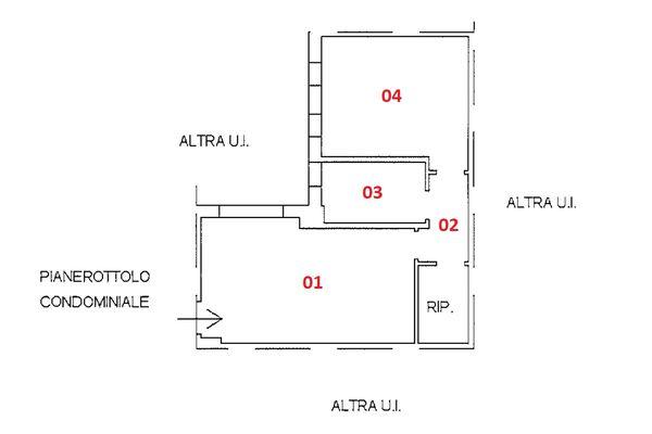 Immagine n1 - Planimetria - Piano secondo - Asta 9251