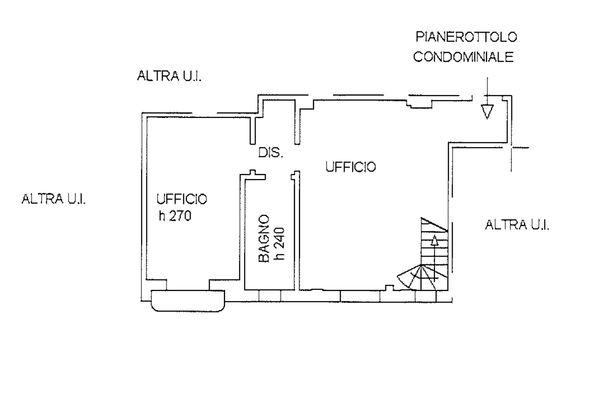 Immagine n1 - Planimetria - Piano terzo - Asta 9253
