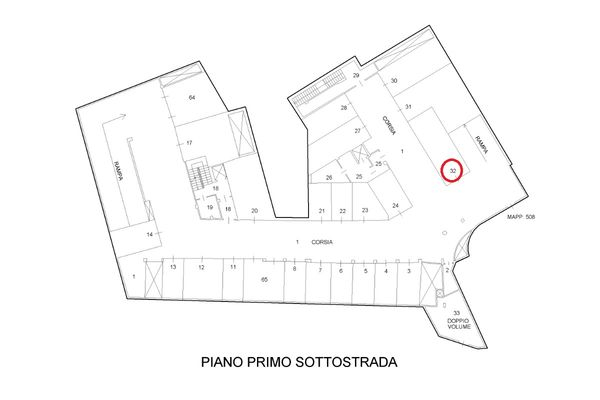 Immagine n2 - Planimetria - Piani interrati - Asta 9294