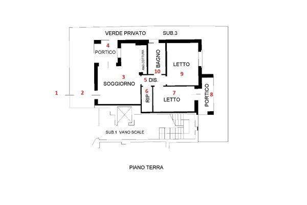 Immagine n1 - Planimetria - Piano terra - Asta 9299