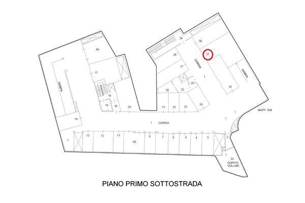Immagine n0 - Planimetria - Piani interrati - Asta 9299