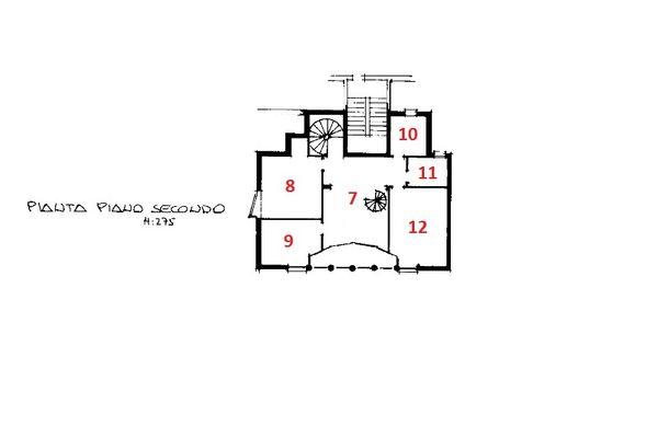 Immagine n0 - Planimetria - Piano secondo - Asta 9316