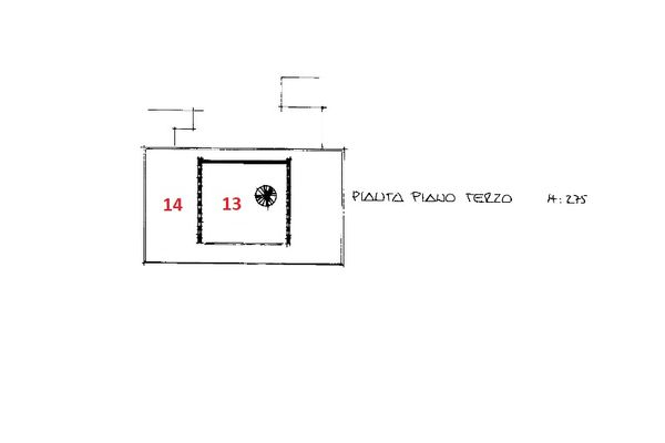 Immagine n0 - Planimetria - Piano terzo - Asta 9316