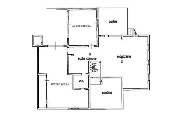 Immagine n0 - Planimetria - Piano interrato - Asta 9346