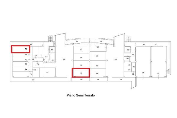 Immagine n2 - Planimetria - Piano interrato - Asta 9435