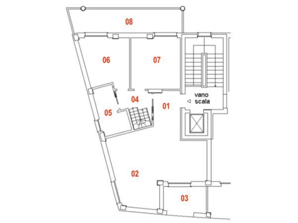 Immagine n1 - Planimetria - Piano terzo - Asta 9466