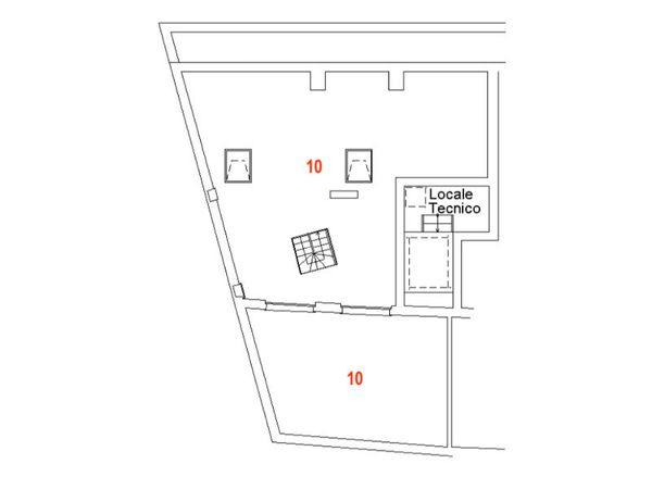 Immagine n1 - Planimetria - Piano quarto - Asta 9466